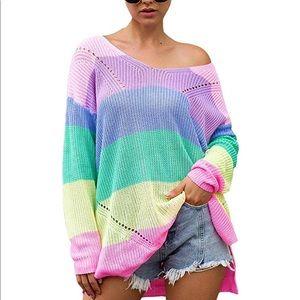 Rainbow Oversized Sweater